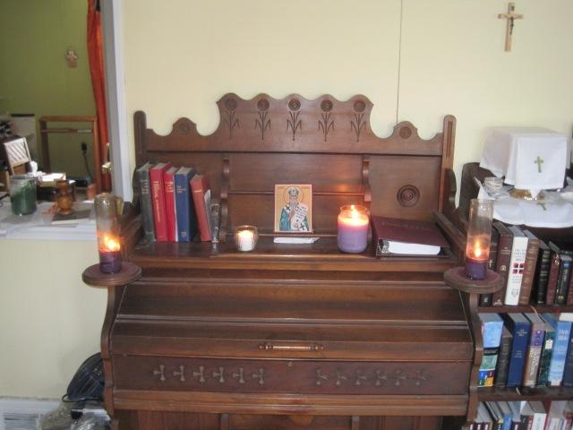 honoring St. Patrick on my organ at home