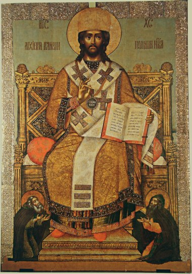 icon_of_christ_sergey_radonezhsky_and_evfimy_of_suzdal